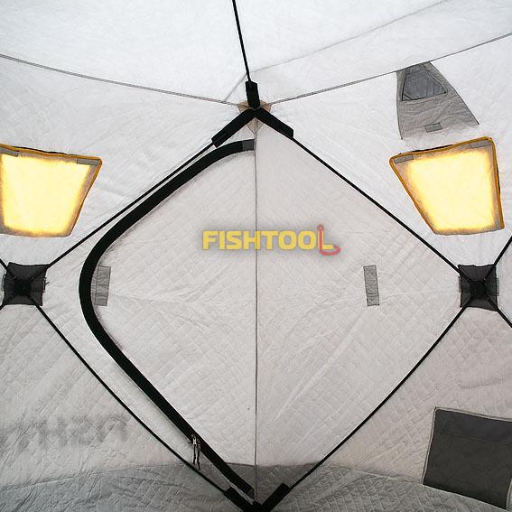 Внутри палаток DreamHouse 2T, BigHouse 2T